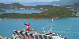 Carnival's Freedom in St. Thomas.