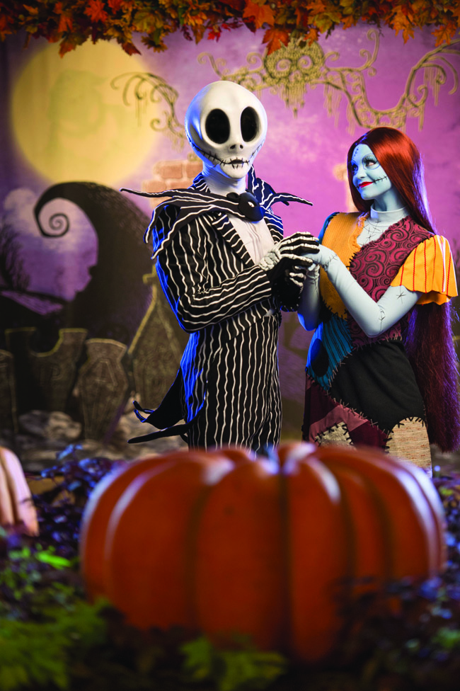 "Jack Skellington and Sally, from Tim Burton's ""The Nightmare Before Christmas,"" bring their unique Halloween celebration to Magic Kingdom during Mickey's Not-So-Scary Halloween Party."