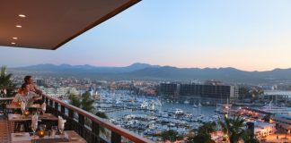 View of the marina from Don Diego at Sandos Finisterra Los Cabos.