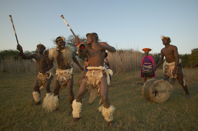 Zulu tribe culture and dancing during the Flash Tour USA FAM to South Africa.