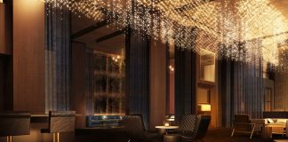 The hotel bar, Franklin, at the Delano Las Vegas.