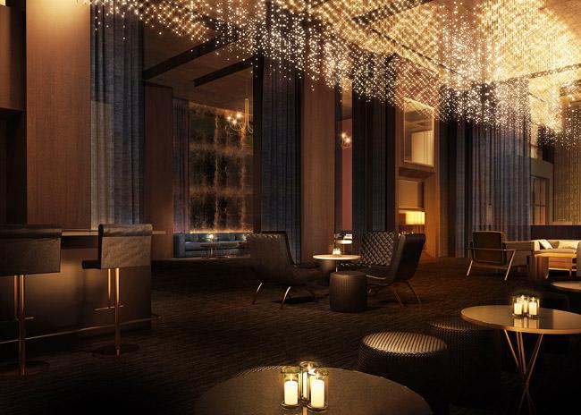 The hotel bar, Franklin, at the Delano Las Vegas.