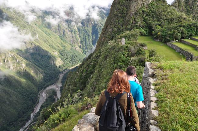 Trekking through Machu Picchu with Geckos Adventures.