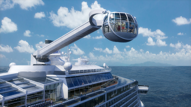 Quantum of the Seas will offer fun-filled activities for the whole family in the form of the North Star.