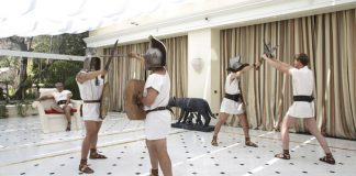 Be a gladiator at Rome Cavalieri, Waldorf Astoria Hotels & Resorts.