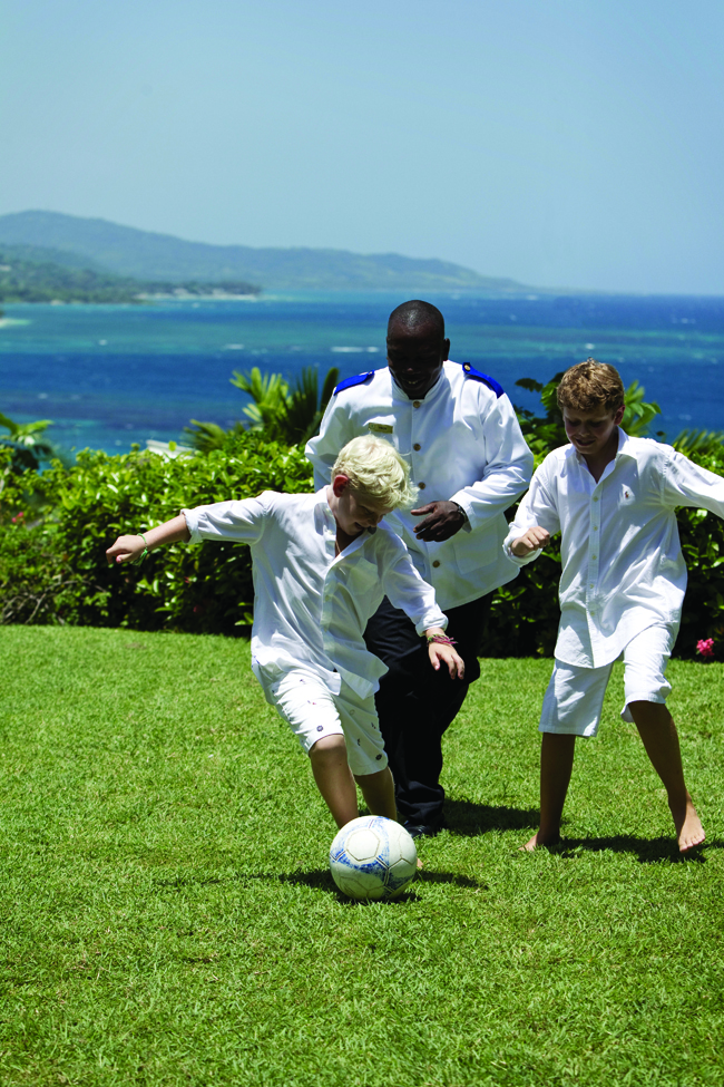 Kids' camp at Round Hill in Jamaica.
