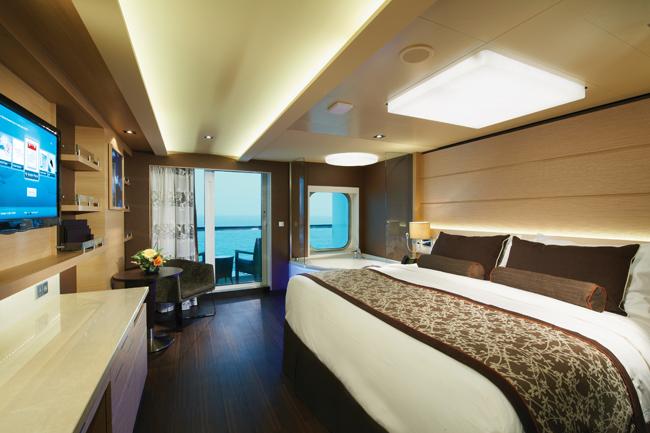 Norwegian Getaways'  309-sq.-ft. Spa Suite.