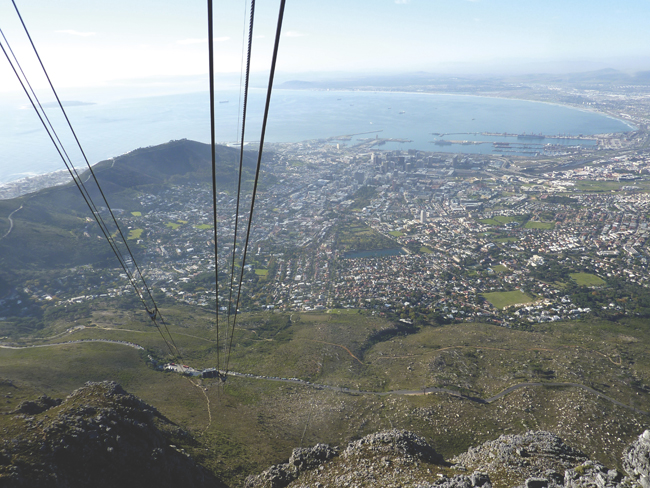 Abercrombie & Kents' cable car ride up Table Mountain in Cape Town.