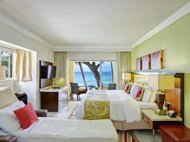 Tamarind's Pool/Garden View rooms can accommodate two parents and one child.