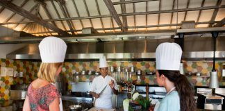 Jiimbaran Bay's Cooking Academy, opened earlier this month at the Four Seasons Resort Bali.