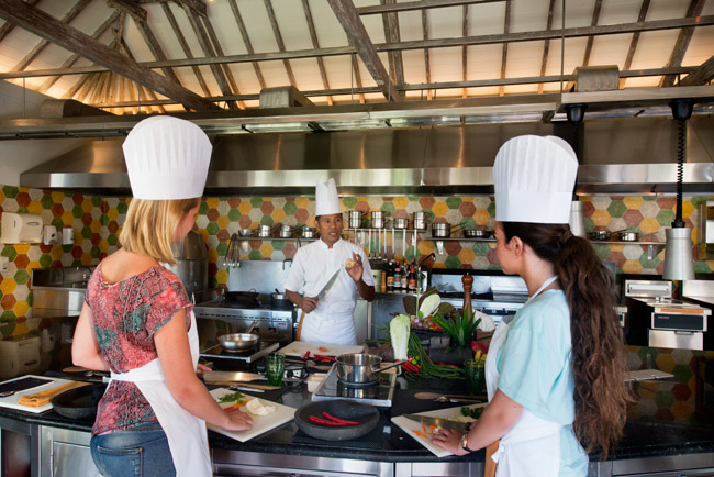 <em>Jiimbaran Bay's Cooking Academy</em>, opened earlier this month at the <strong>Four Seasons Resort Bali</strong>.