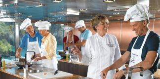 Oceania Cruises guests learn to make the local fare on the Culinary Discovery Tours.