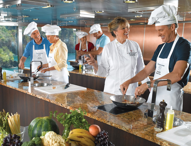 Oceania Cruises' guests learn to make local fare on its Culinary Discovery Tours.