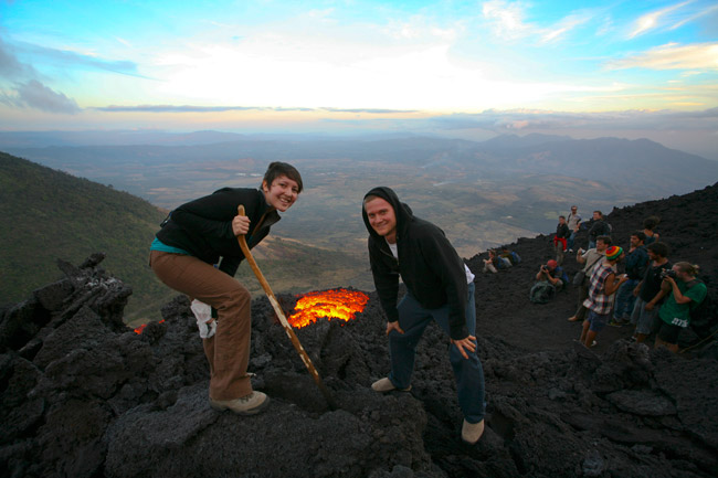 On a volcano hike with Geckos Adventures.