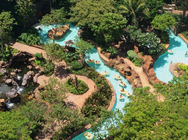 Aulani, A Disney Resort and Spa Lazy River.