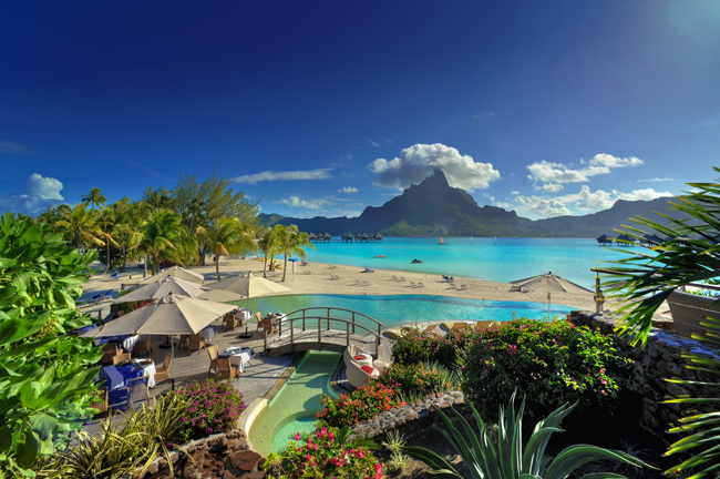 Pool at Le Meridien Bora Bora.