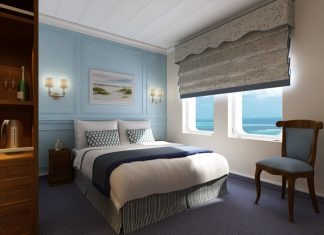 Rendering of the Category G Stateroom aboard Haimark's new MS Saint Laurent.
