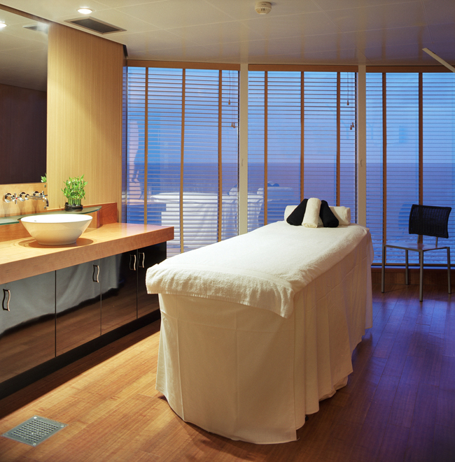 Crystal Cruises Serenity Spa.