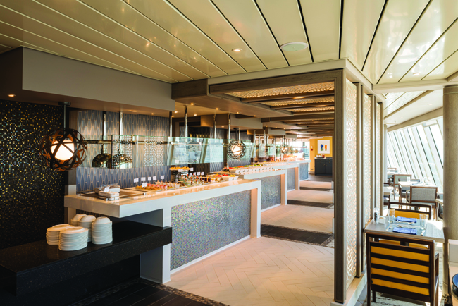 Refreshed Lido Cafe on the Crystal Serenity.