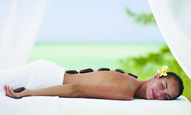 Hot Stone Massage at Parrot Cay.