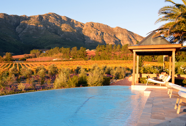 La Residence in South Africa's Franschhoek winelands. (photo credit: Zicasso)