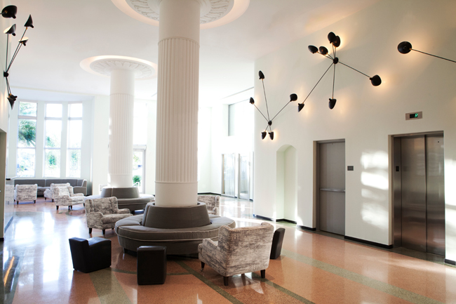 The stylish lobby in the Metropolitan by COMO, Miami Beach.