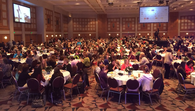 Travel agents at MLT University 2014 general session.