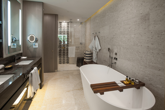 Modern and luxurious bathrooms at Rose Hall Zilara. (Photo credit: Playa Resorts & Hotels.)