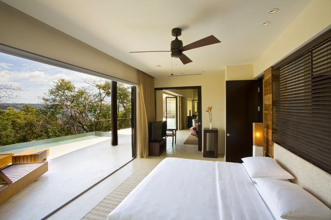 Andaz Presidential Bedroom at the Peninsula Papagayo Resort.