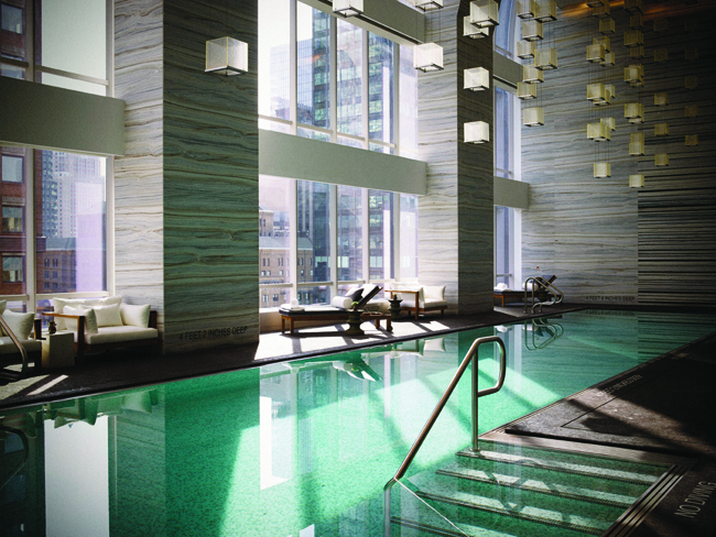 Poolside at Park Hyatt New York.