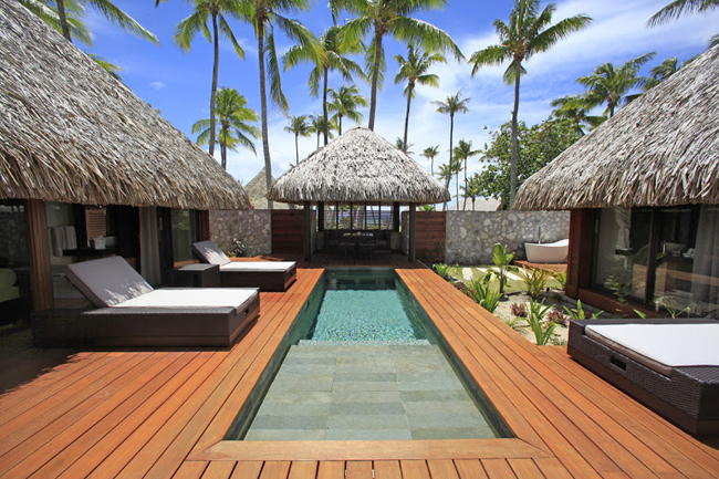 A Garden Villa at Hotel Kia Ora in Rangiroa.