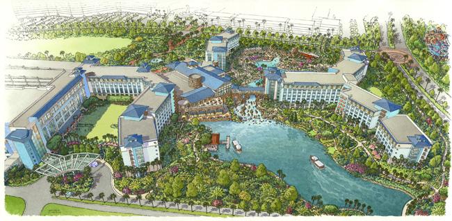 Rendering of Loews Sapphire Falls Resort. (Photo courtesy of Universal Orlando Resort.)