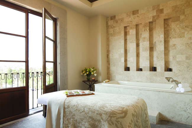 Treatment room at the Rosewood San Miguel de Allende.