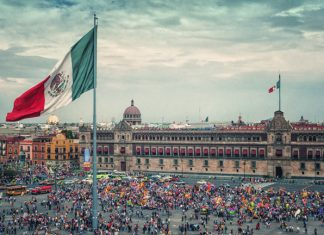 Zocalo Square in Mexico City.