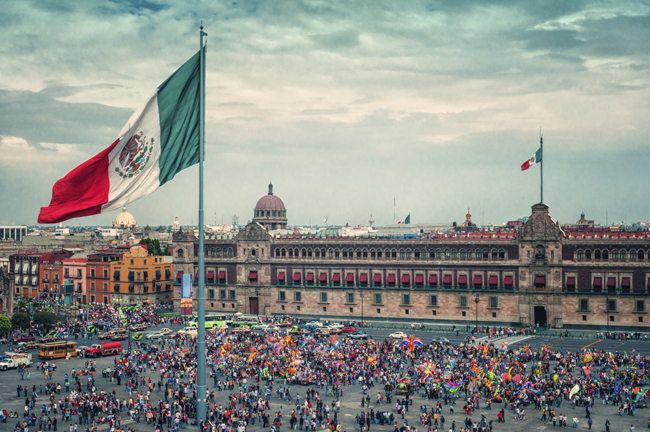Zocalo Square in Mexico City.