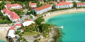 Aerial view of the Grand Case Beach Club.