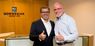Frank Del Rio, chairman and CEO of Prestige and Kevin Sheehan, CEO and president, Norwegian Cruise Line will be working together with the new merger.