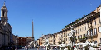 Travelers visit Rome Piazza Navona via Globus' new European tours.