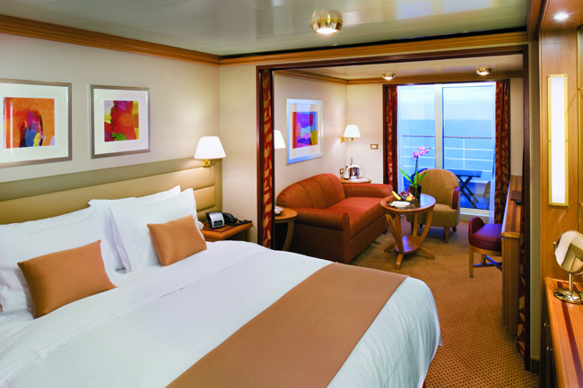 Silversea's 540-passenger Silver Spirit offfers spacious  accommodations.