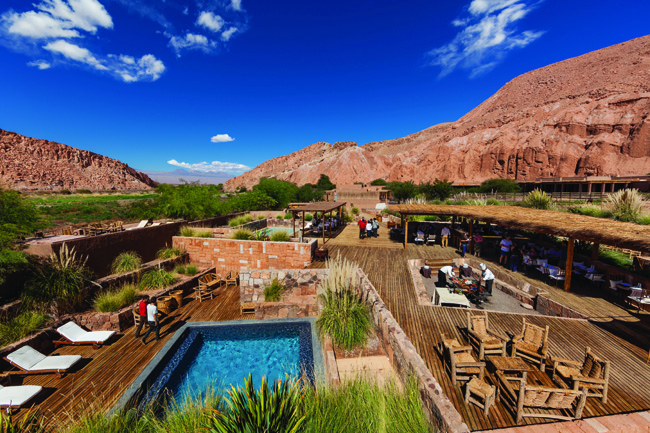A desert oasis at Alto Atacama Desert Lodge & Spa.