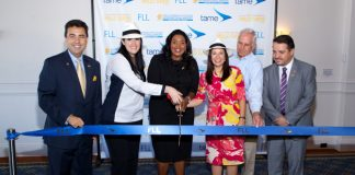 arlos M. Molinet, Sr. Vice President of the Greater Fort Lauderdale Convention and Visitors Bureau; Paola Carvajal, Minister of Transportation; Barbara Sharief, Mayor of Broward County; Nataly Celi, the Ambassador of Ecuador in the United States; Kent George, Broward County Aviation Director; and Fernando Guerrero, Tame Airlines CEO.
