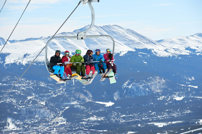 The new six-passenger Colorado Super Chair lift.