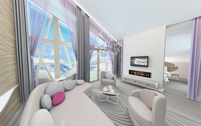 Club Med Val Thorens suite.