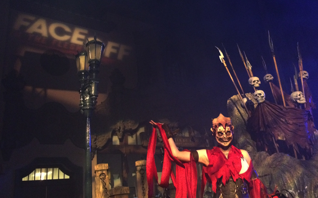 The Face Off—In the Flesh scare zone at HHN 24.