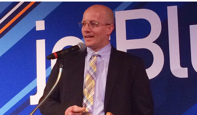 John Checketts, director route planning for jetBlue.