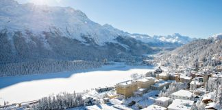 View from the Kulm Hotel St. Moritz.