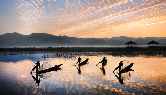 Inle Lake in Myanmar. (Photo courtesy of Alexander+Roberts.)