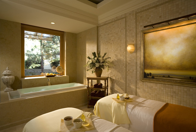 The spa treatment room at the Resort at Pelican Hill.
