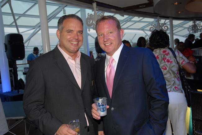 Travel Leaders Group Chief Marketing Officer Stephen McGillivray (left) and Vacation.com President John Lovell (right)