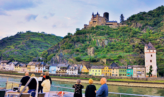 Collette sails the Rhine River.